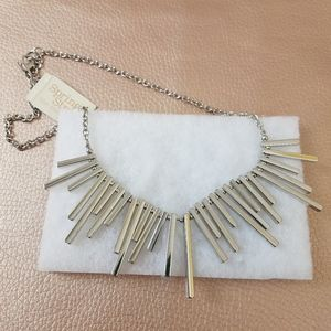 NEW Shailene Fringe Collar Silver Necklace